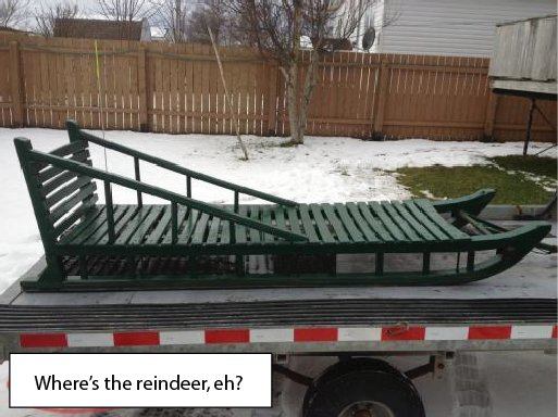 Typical scene: Canadian transport on an American highway . . . [Image submitted]