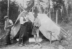 The Prince of Wales (right) trusted his life to veteran outdoorsman Neil McDougall on the Nipigon River in 1919. [Image submitted]