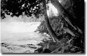 virgin Falls - popular fishing spot on the Nipigon in 1919.