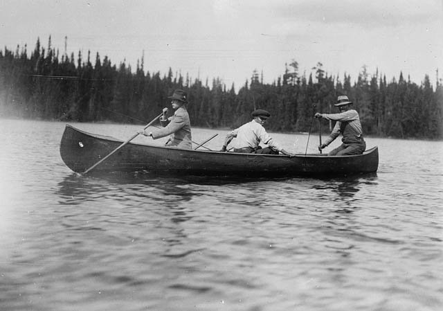 To wow his royal friends back home, the Prince had himself photographed in the bow of the canoe. [Image submitted]