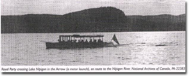 The boat on Lake Nipigon taking the Prince to Virgin Falls on the Nipigon River. [Image submitted]