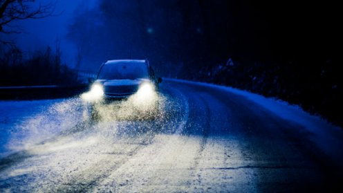 North Shore driving, in winter, at night . . . [Image submitted]
