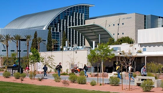 UNLV library, as big as a resort, filled with ?