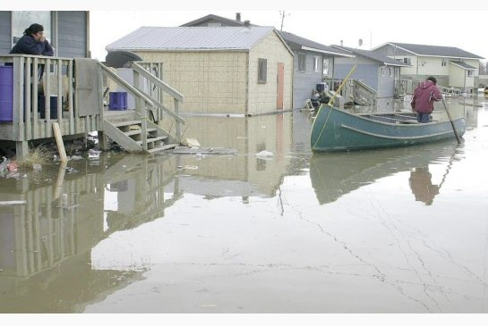 Flooding in Kashechewan . . . [Submitted image]