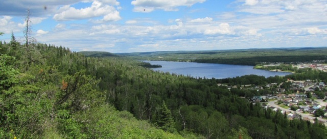 Manitouwadge Lake, on which the minefinders landed in their tiny plane . . .
