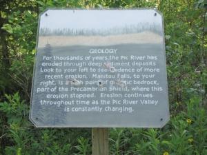 104d - b Manitou Falls sign