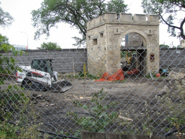 The scene at Upper Fort Garry Gate on 21 August 2014.