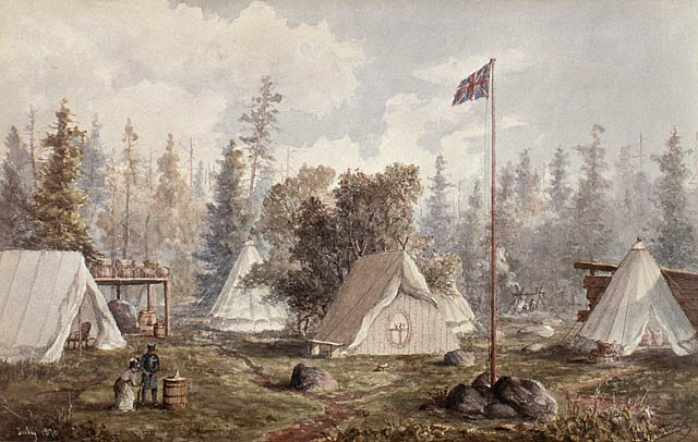 Wolseley's encampment at Prince Arthur's Landing in May 1870.