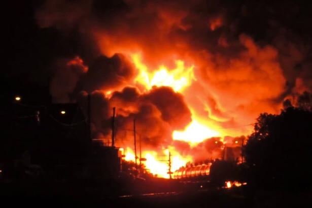 Lac-Megantic fire.  -Google image
