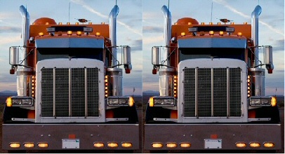 When meeting two Mack trucks on a two-lane highway, go around.
