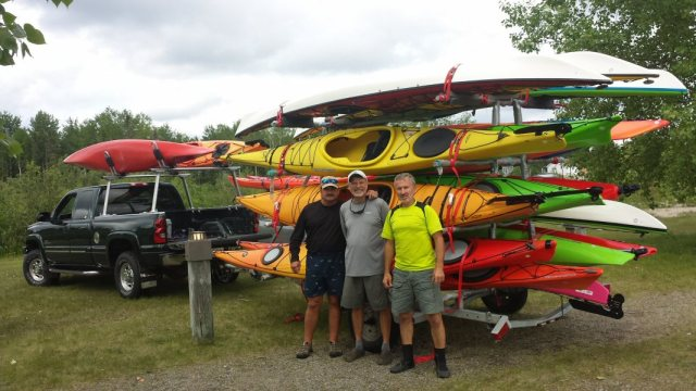 L to R, Ron Miron, Pete Hohmann, & Walter Davies, kayaking specialists.