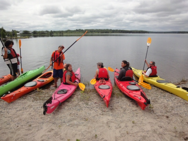 Barton Bay outing.  Photo by Heather Collins, ASWCO.
