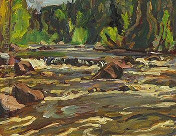 "A.Y. Jackson's ""Stream Bed Lake Superior Country 1955"". Image from Reproduction Gallery."