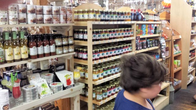 Freshly imported jams & jellies.