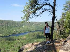 At the fourth and last overlook on the way to Cascade Falls creek.