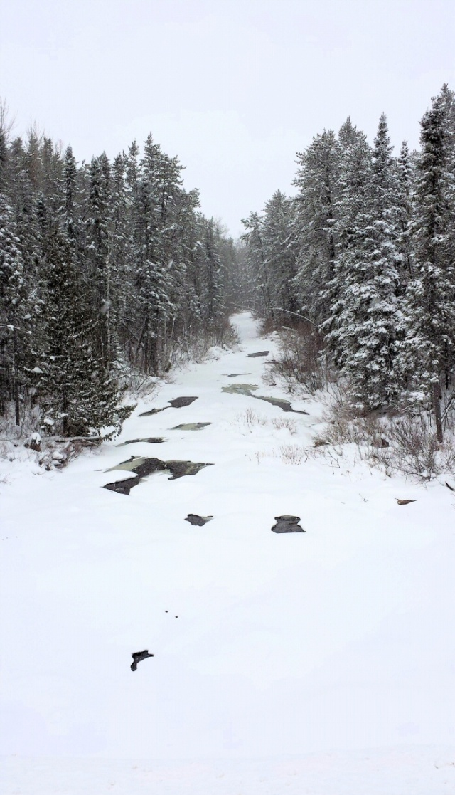 Creelman Creek in winter . . .